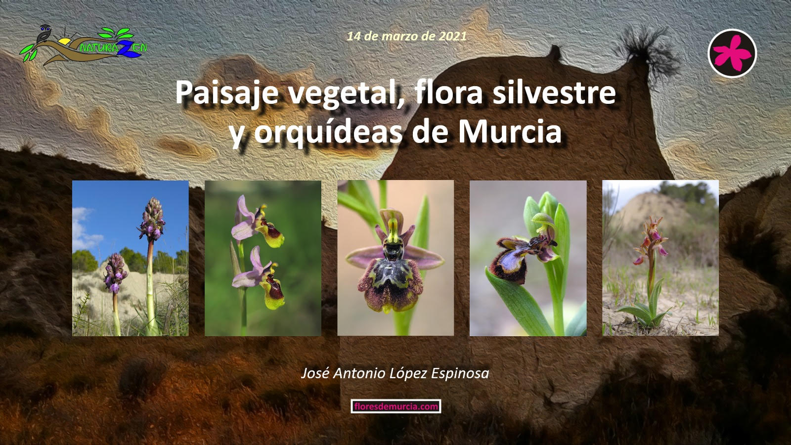 Paisaje vegetal, flora silvestre y orquídeas de Murcia, con