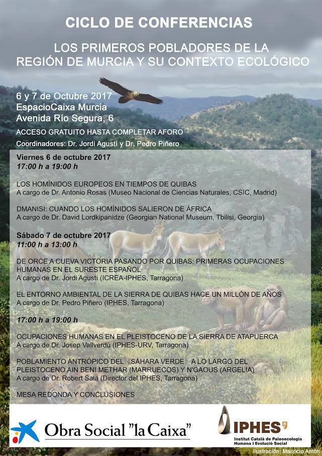 'Losprimeros pobladroes de la Región de Murcia y su contexto ecológico', con IPHES