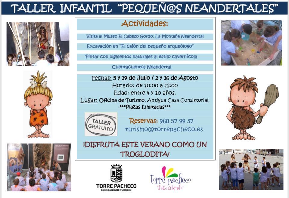 'Pequeños neandertales', con el Ayto. de Torre Pacheco