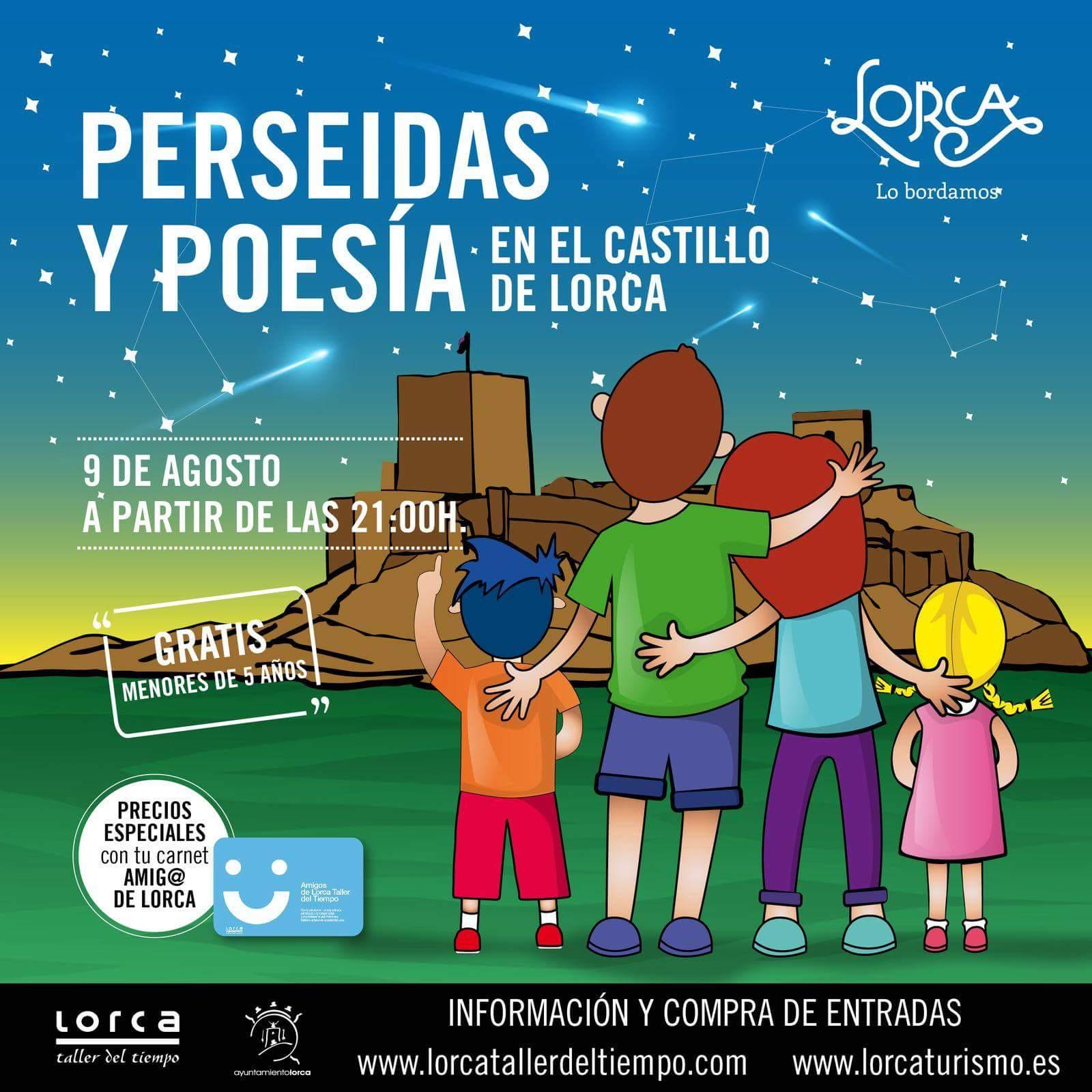Perseidas y Poesía en el Castillo de Lorca. Con Lorca Taller del Tiempo