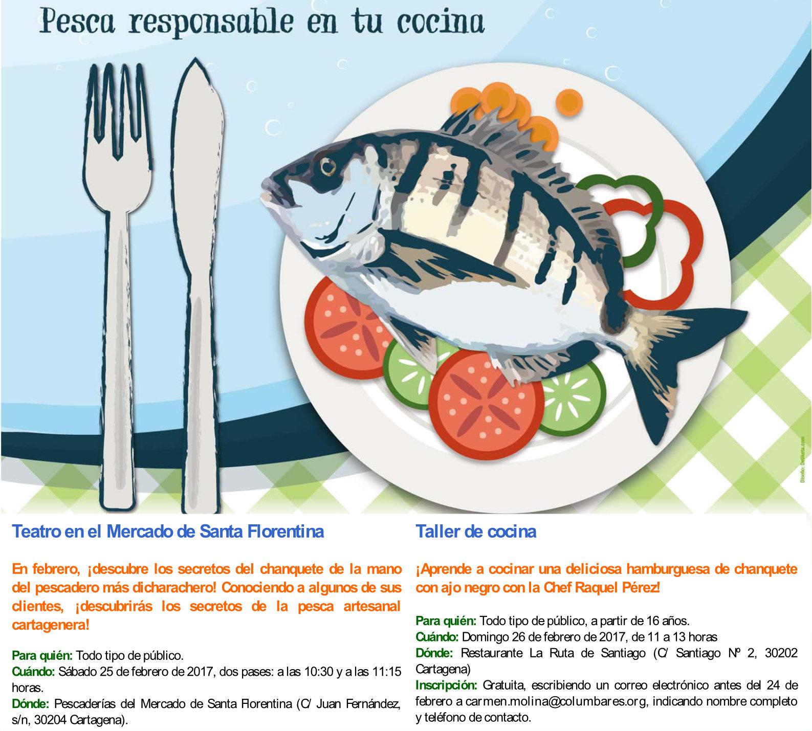 Taller de cocina sobre pesca sostenible, con la Asociación Columbares