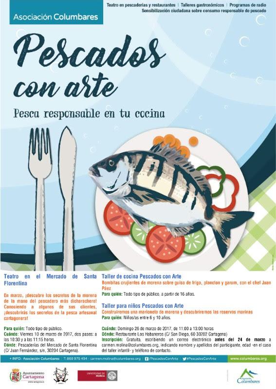 Taller de cocina de pescado sostenible, con la Asociación Columbares