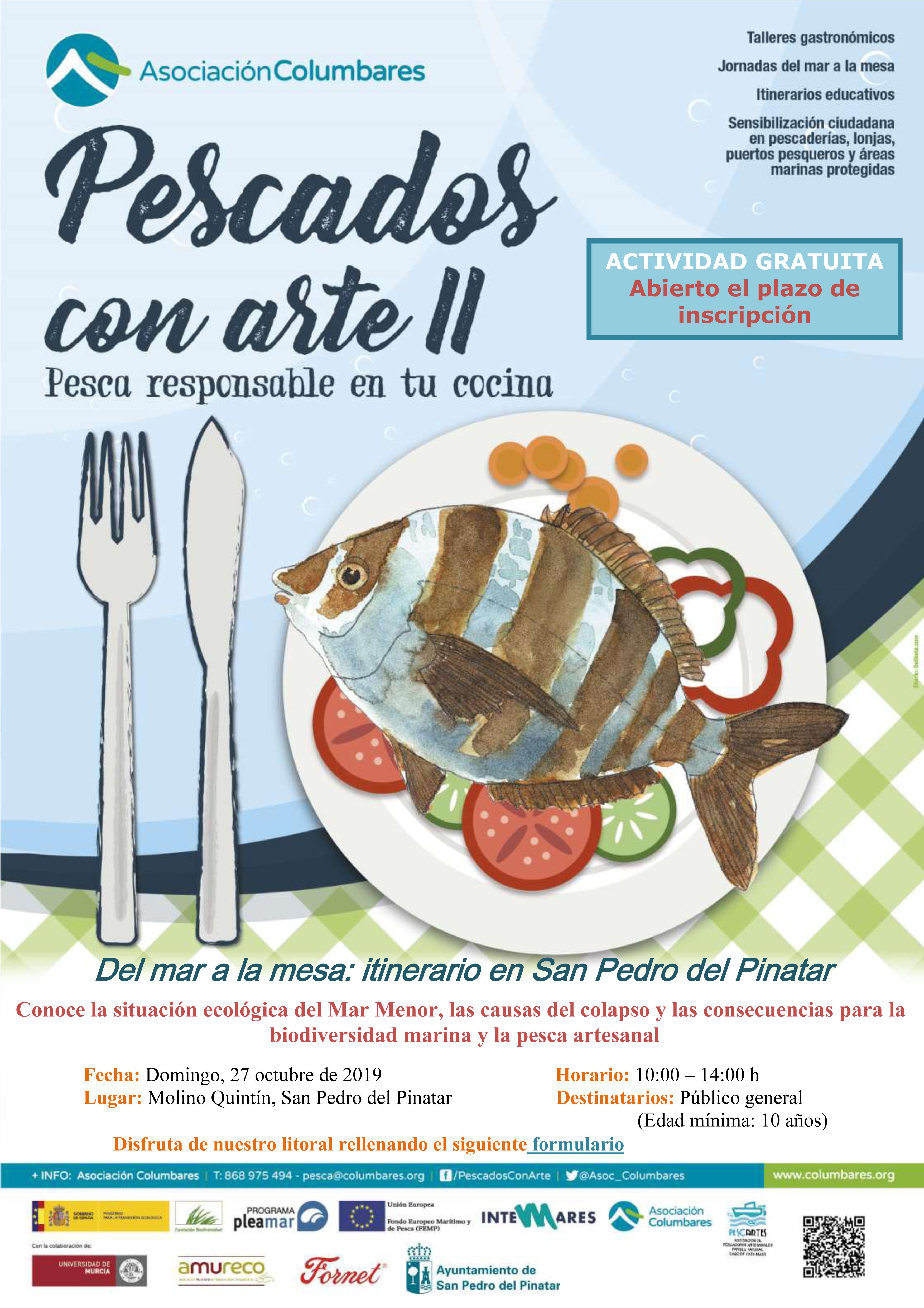 Jornada explicativa de la mortandad de peces 'Del mar a la mesa', con Columbares