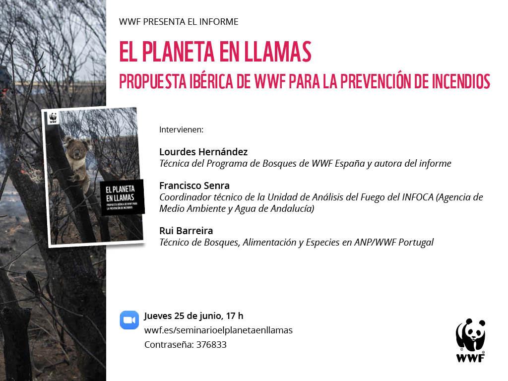 Webinar sobre los incendios en España, con WWF