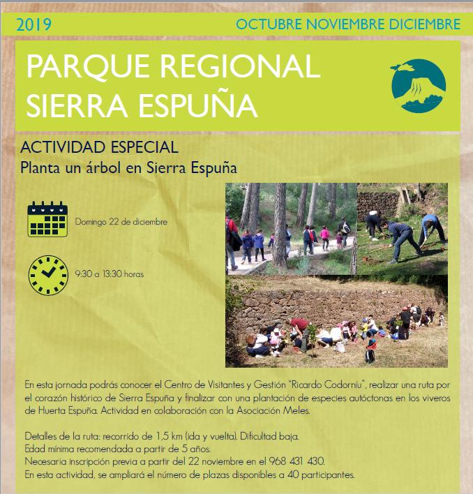 Actividad Especial 'Planta un árbol en Sierra Espuña'. con la CARM
