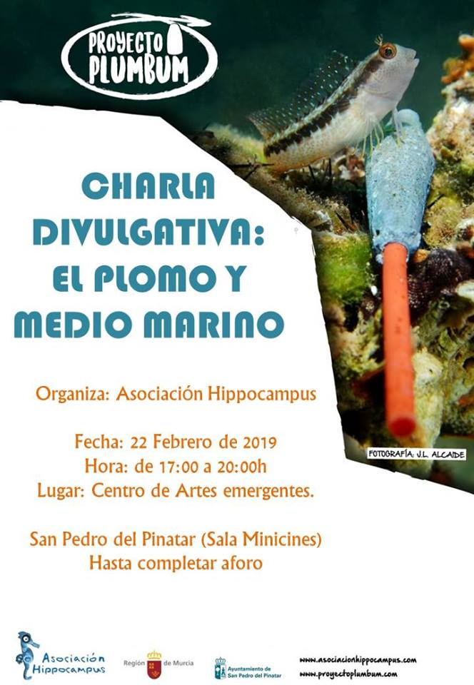 Charla: El plomo y el medio marino, con la Asociación Hippocampus