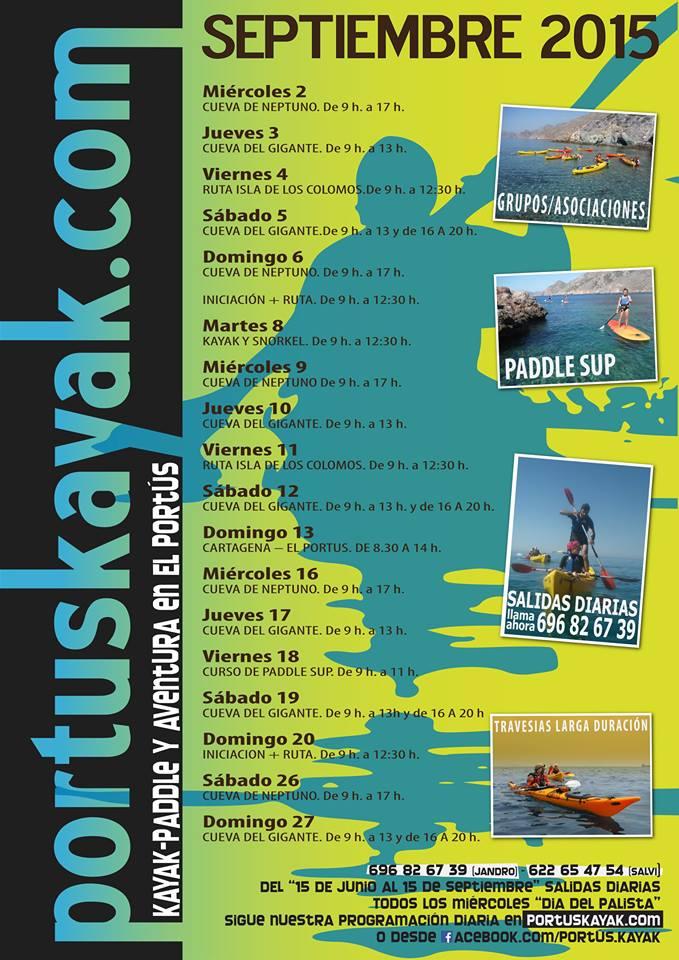 Programación de Septiembre de Portus Kayak