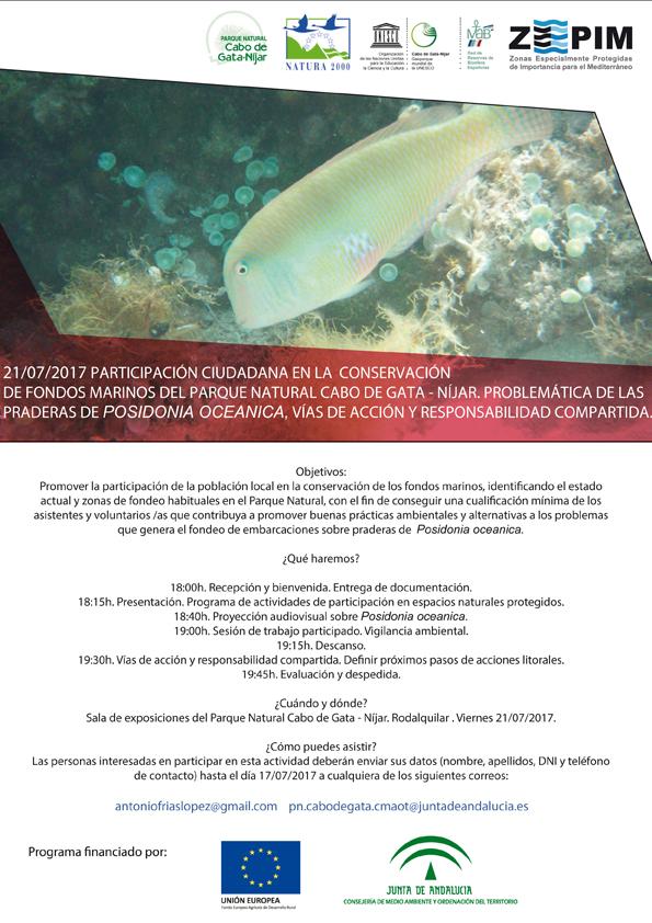 Conservación de fondos marinos, con el PN de Cabo de Gata - Níjar