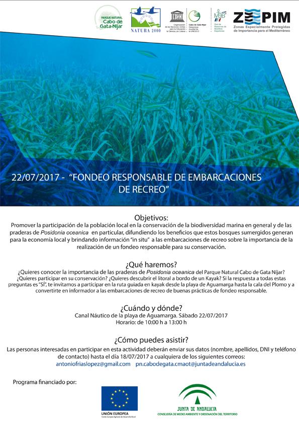 Charla sobre fondeo responsable, con la Junta de Andalucía