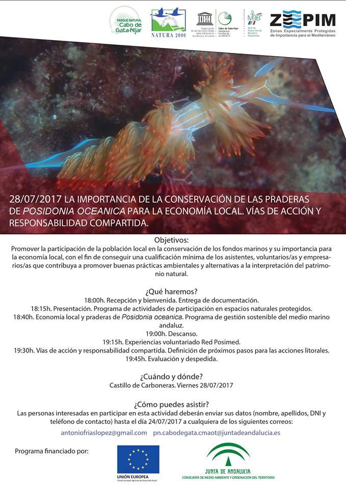 Jornada sobre las praderas de Posidonia oceanica y la economía local, con la Junta de Andalucía
