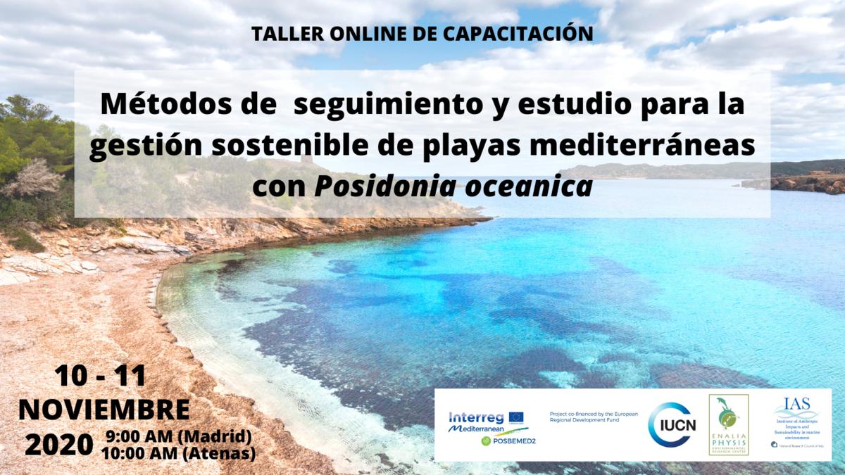 'Métodos de seguimiento y estudio para la gestión sostenible de playas mediterráneas con Posidonia oceanica', con Posbemed2