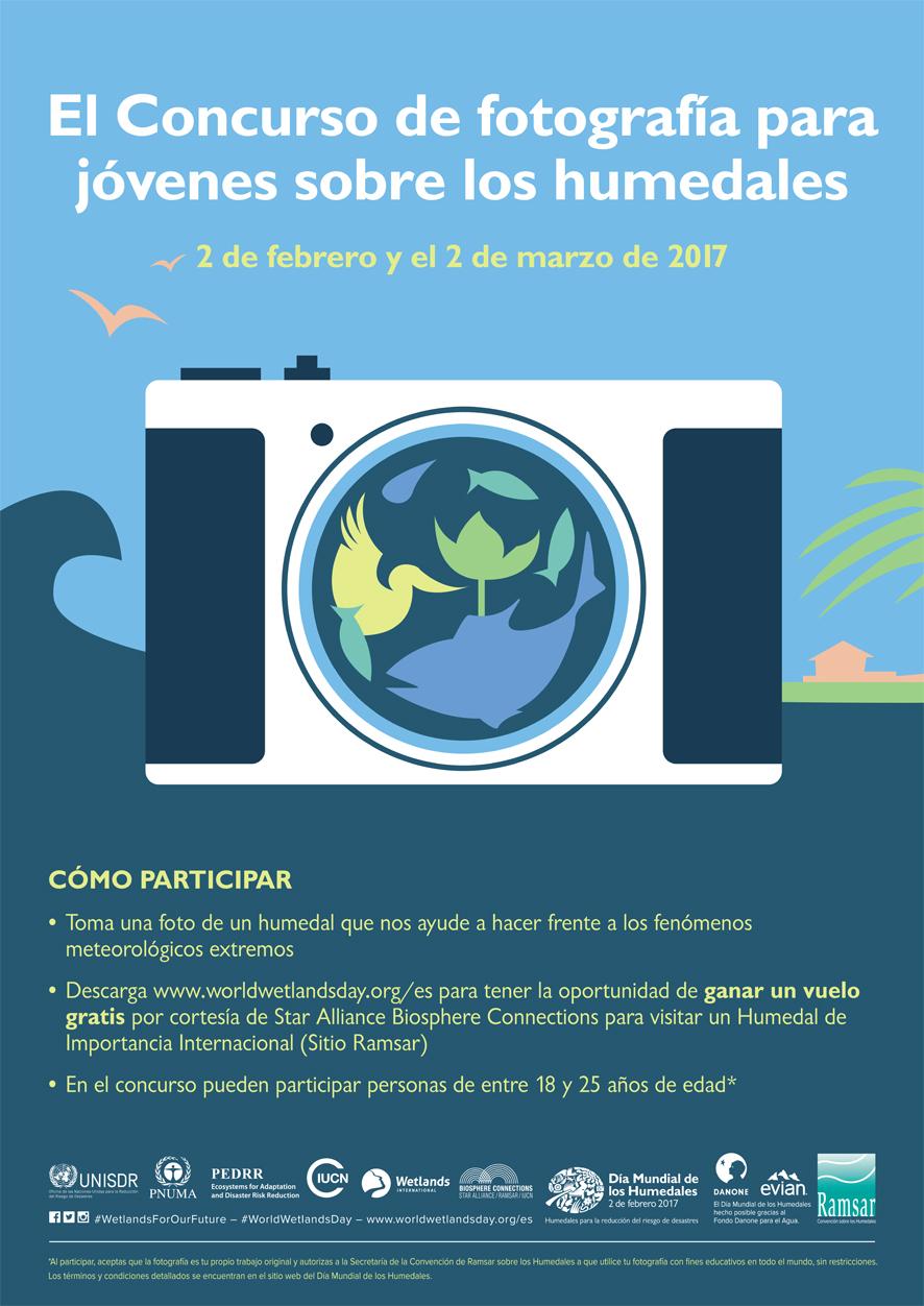 Concurso de fotos sobre los humedales, para jóvenes, con Ramsar