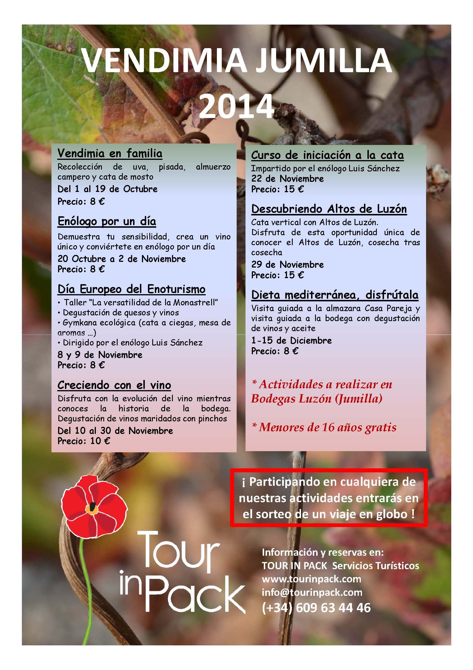 Vendimia Jumilla 2014 con Tour In Pack