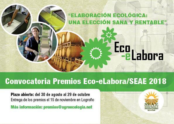 IV Premios EcoeLabora-SEAE en Innovación en Agroecología y Producción Ecológica