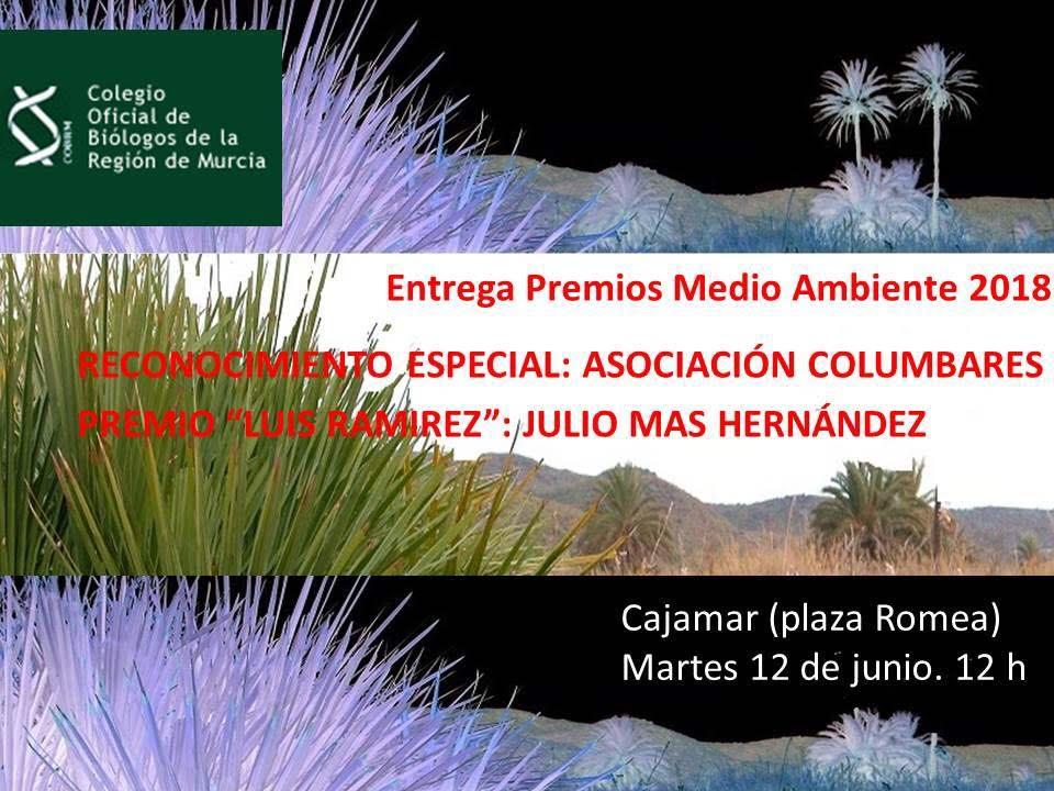 Entrega de los Premios de Medio Ambiente del Colegio de Biólogos