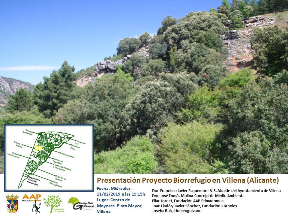 Presentación del Biorrefugio de la Fundación + Árboles