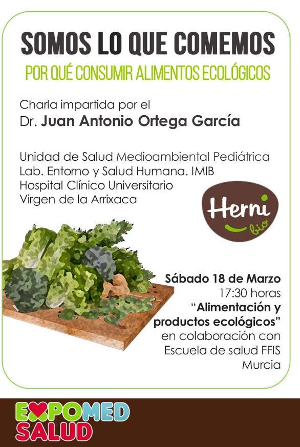 Charla sobre productos ecológicos y salud, con ExpoMed