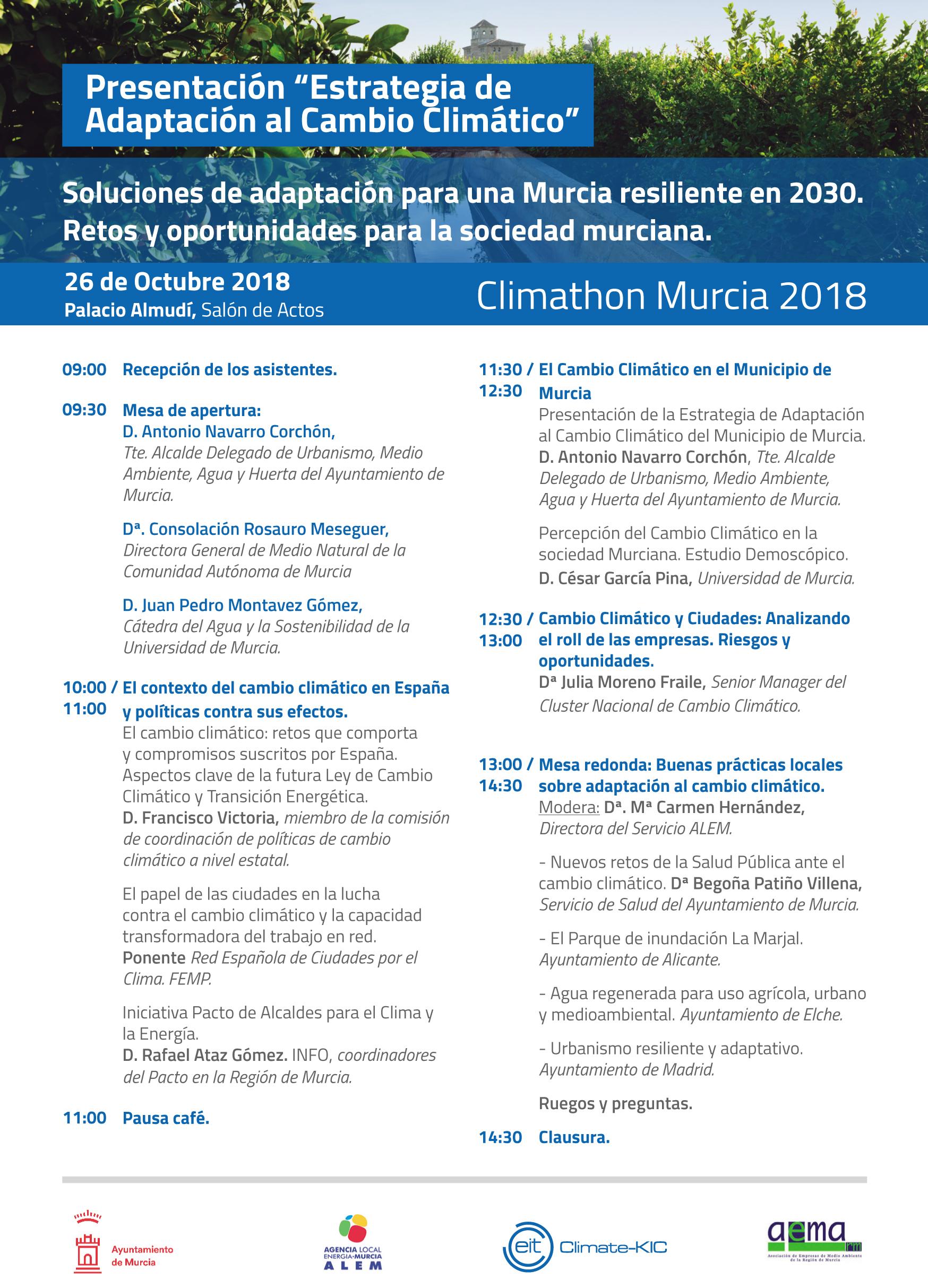 Programa Climathon Murcia 2018