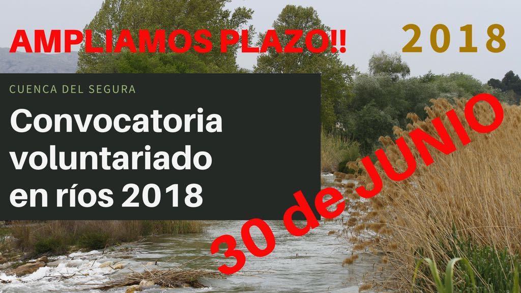 Financiación de 10 voluntariados en el río Segura, con Tragsatec