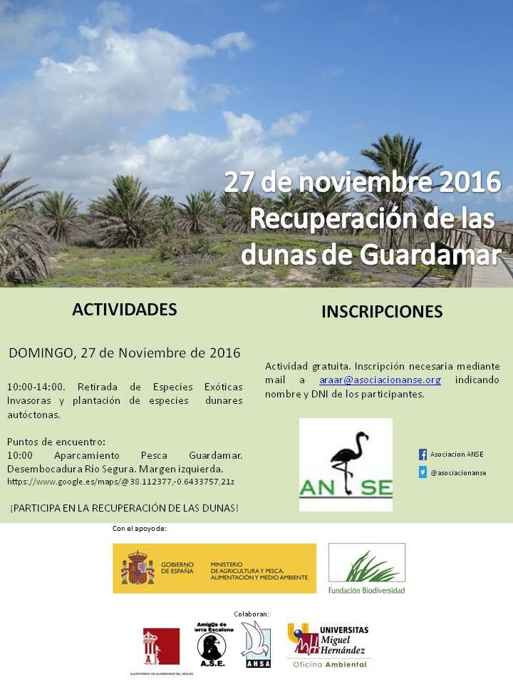 Recuperación Dunas de Guardamar, con ANSE