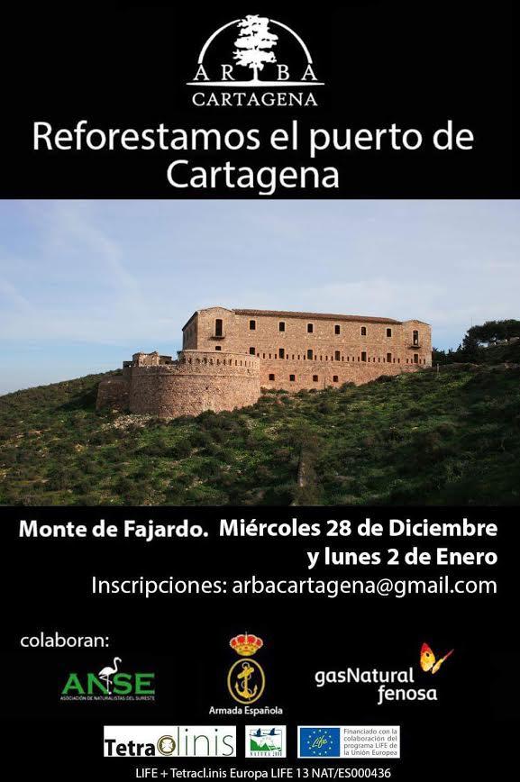 Reforestación en el Puerto de Cartagena , con ARBA Cartagena
