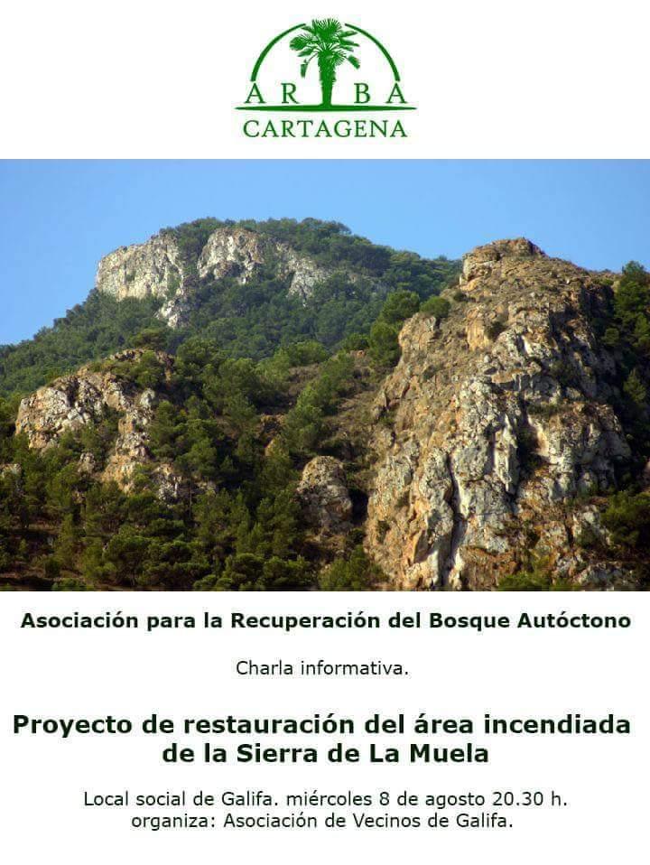 Charla sobre la reforestación de la Sierra de La Muela, con ARBA