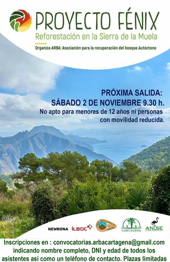 Reforestación en la Sierra de la Muela, con ARBA