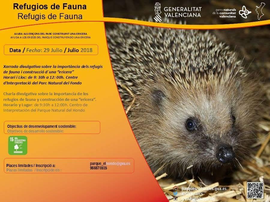 Charla sobre refugios para la fauna, con la Generalitat Valenciana