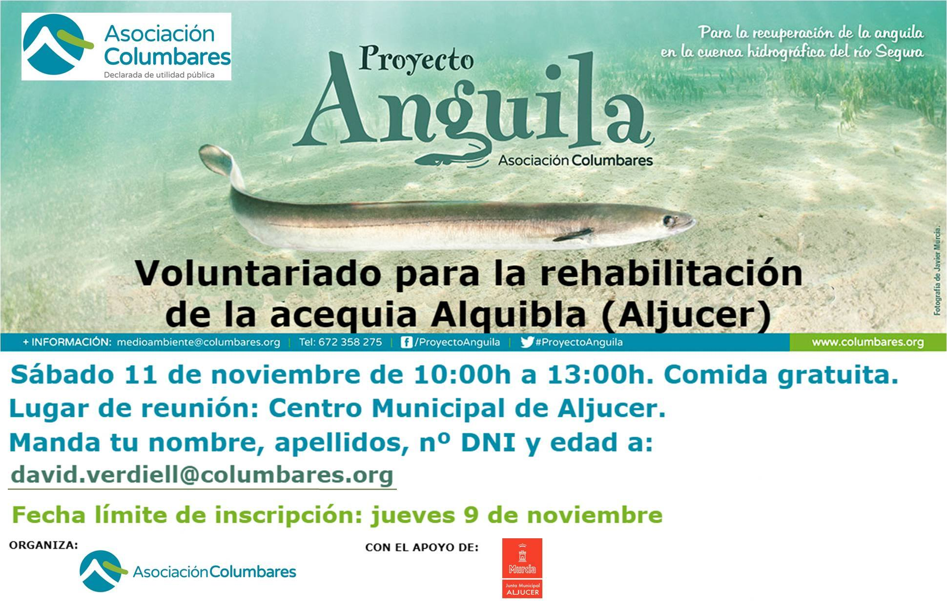 Rehabilitación de la acequia Alquibla, con la Asociación Columbares