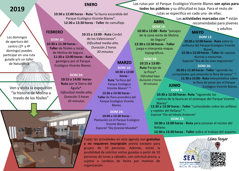 Programa de las Actividades en el Parque Ecológico Vicente Blanes, con el Ayto. de Molina