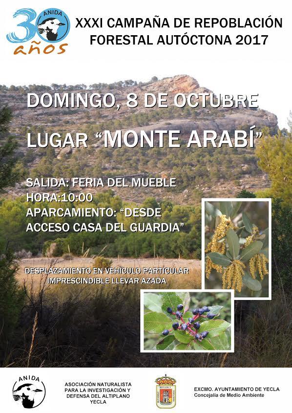 Repoblación Forestal en el monte Arabí, con ANIDA YECLA