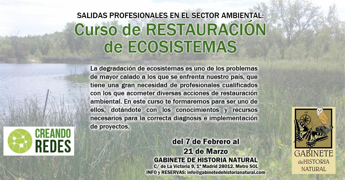 Curso de restauración de ecosistemas, con Gabinete de Historia Natural