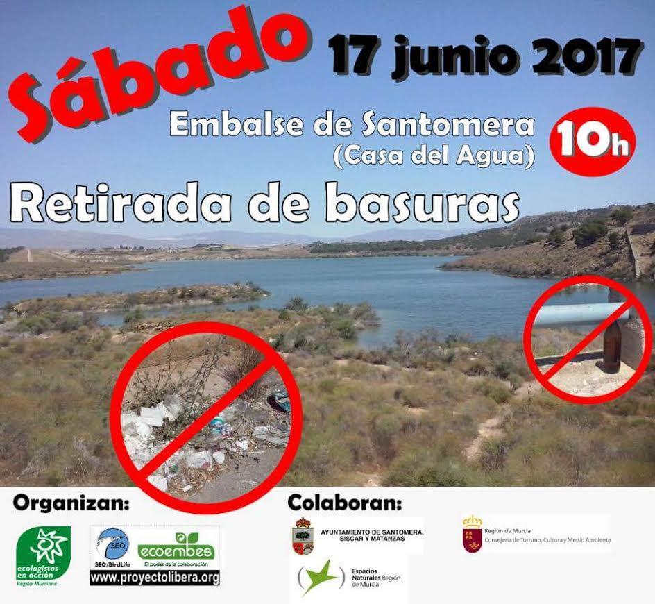 Retirada de basuras, con EEA Región Murciana