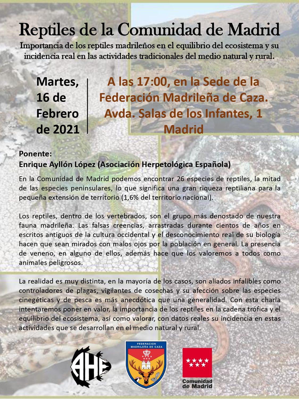 Charla sobre los reptiles de la Comunidad de Madrid