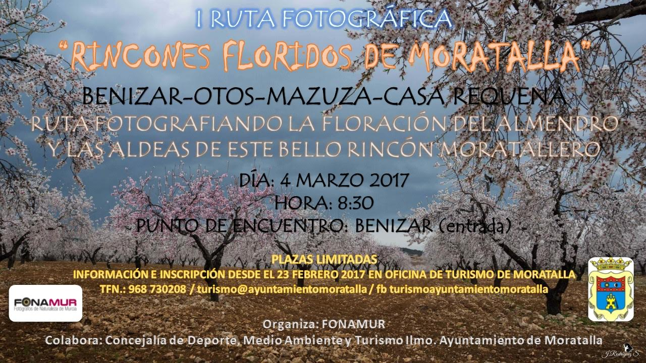 Iª Ruta fotográfica 'Rincones floridos de Moratalla', con Fonamur