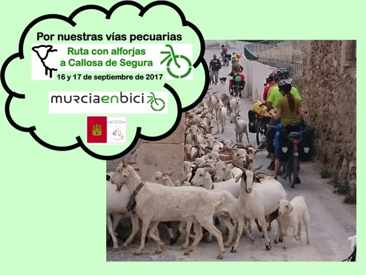 En bici a Callosa por las vías pecuarias, con Murcia en Bici