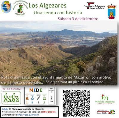 Ruta a Los Algezares, con Club Senderista Amigos de la Naturaleza de Mazarrón