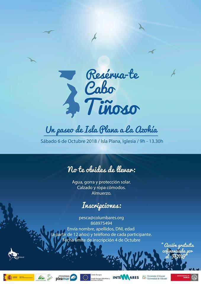 Resérva-te Cabo Tiñoso: un paseo de Isla Plana a La Azohía, con la UA