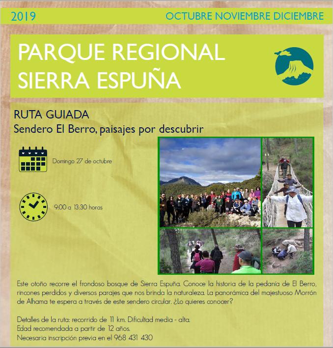 Ruta 'Sendero El Berro, paisajes por descubrir', con la CARM