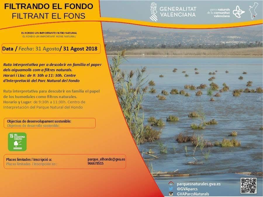 Ruta  'Filtrando el fondo', con la Generalitat Valenciana