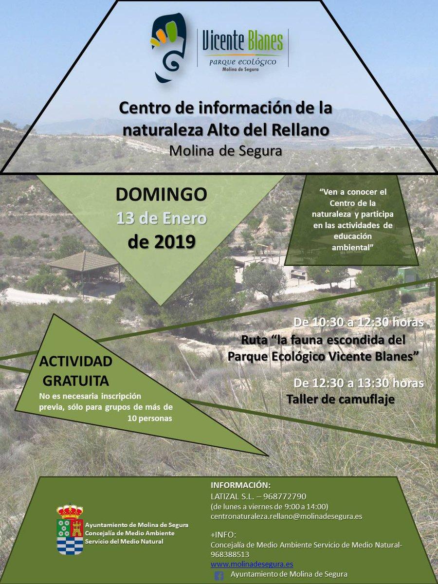 Ruta 'La fauna escondida del Parque Ecológico Vicente Blanes', con el Ayto. de Molina de Segura