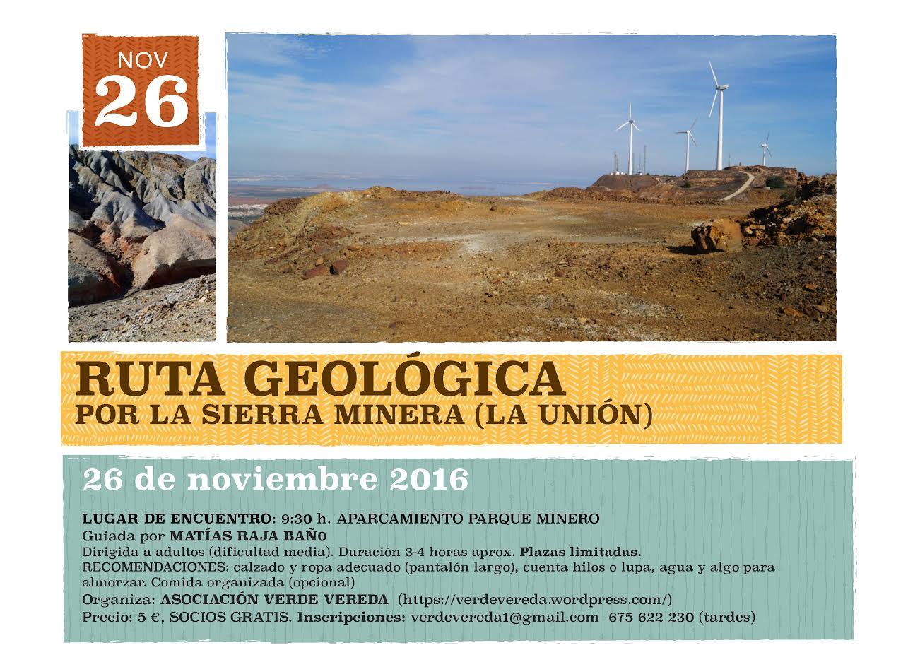 Ruta geológica por la Sierra Minera, con Verde Vereda