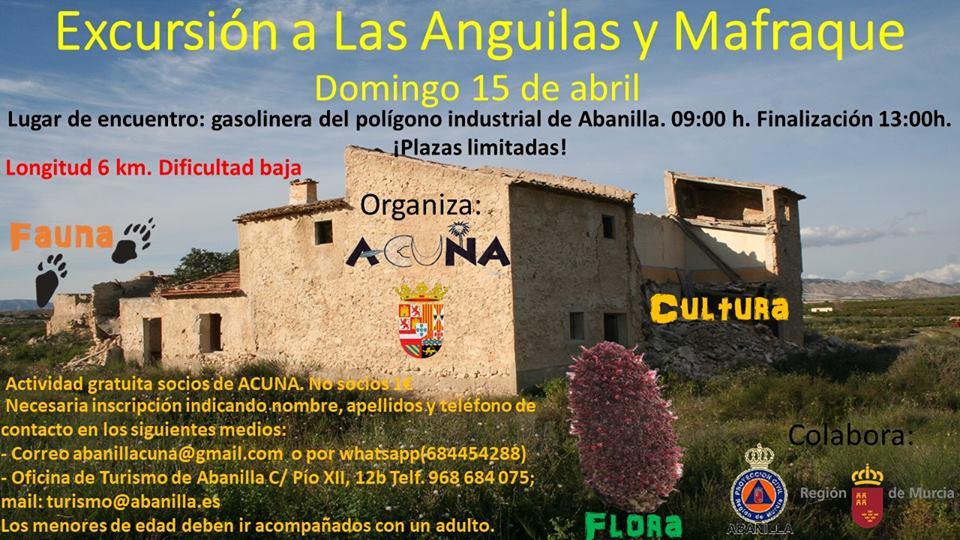Excursión a Las Anguilas y Mafraque, con Acuna