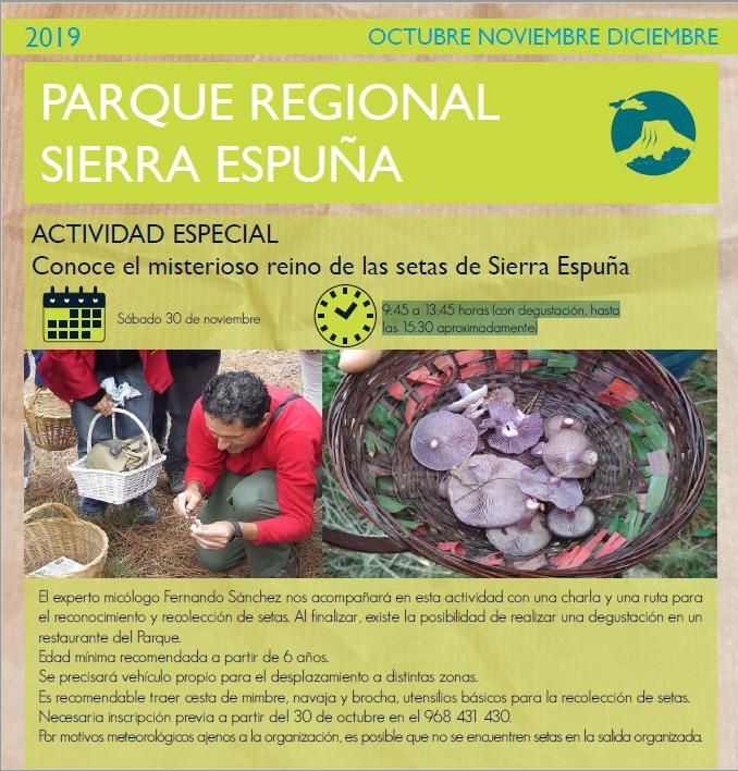 'Conoce el misterioso reino de las setas de Sierra Espuña', con la CARM