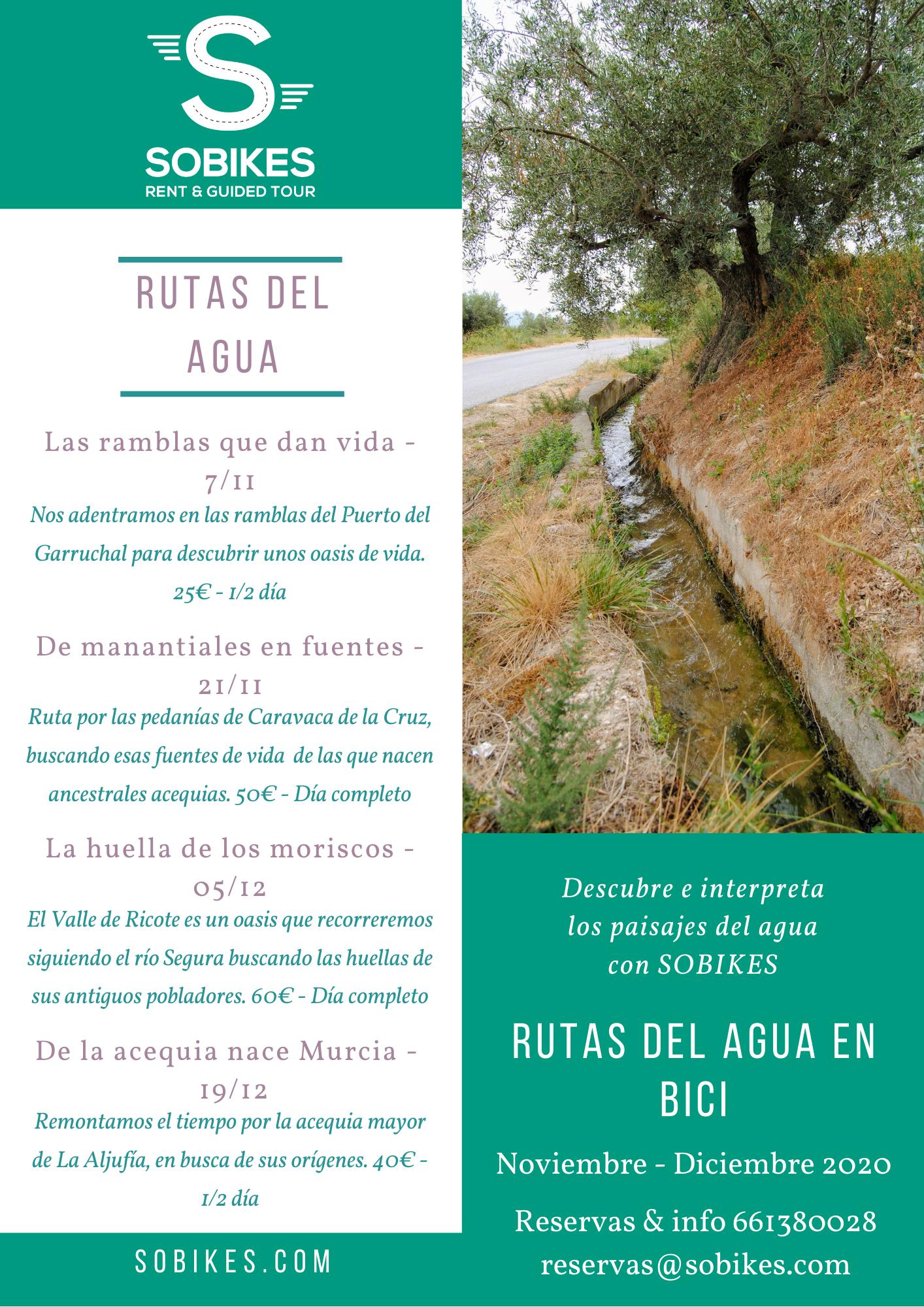 Programa de las Rutas del Agua, con Sobikes