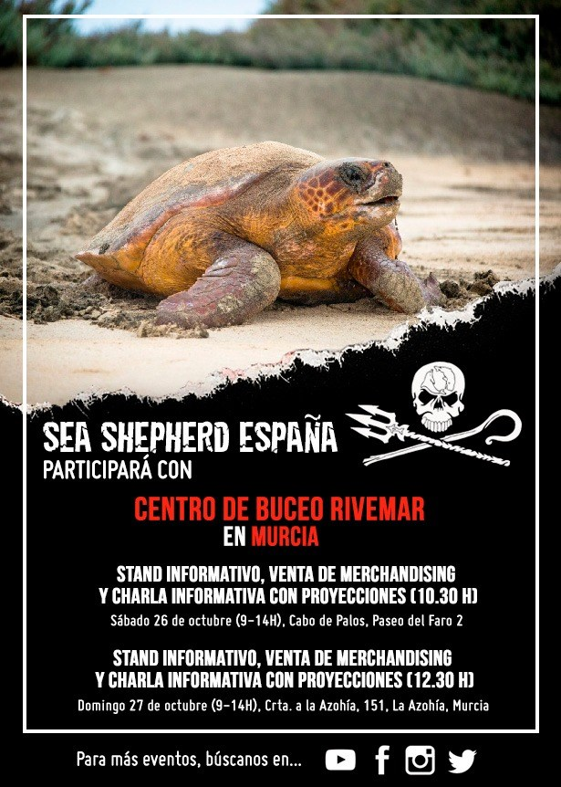 Charlas en Murcia con miembros de la tripulación, con Sea Shepherd España