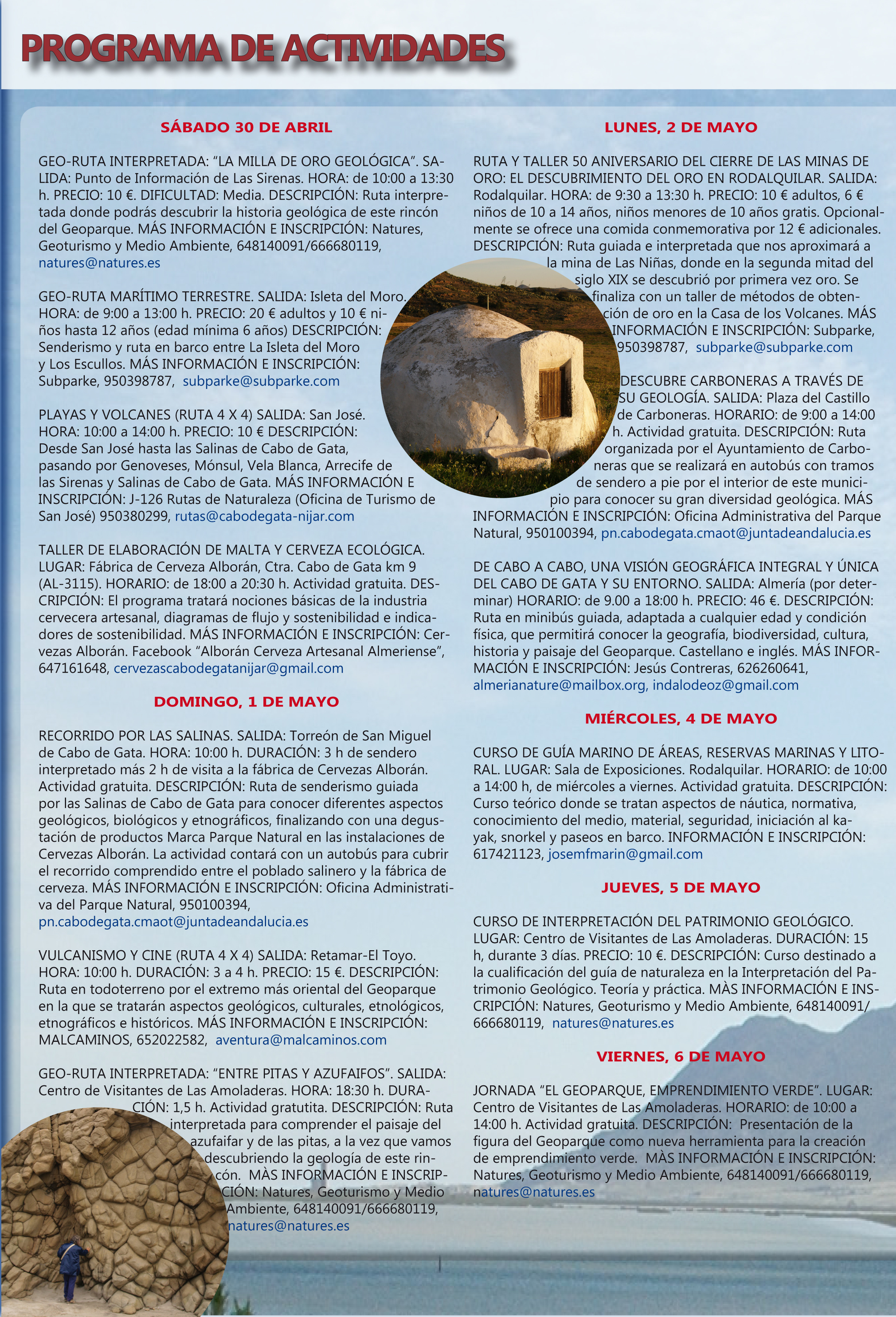 Programa de la X Semana de los Geoparques Europeos. 1.