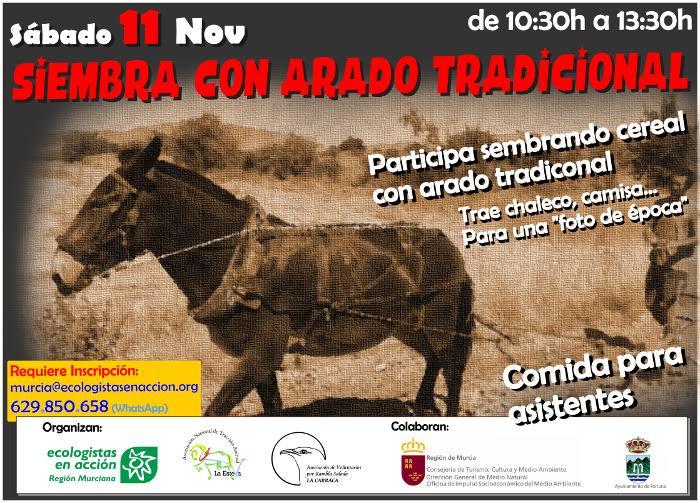 Siembra para fauna al modo tradicional, con EeA Región Murciana