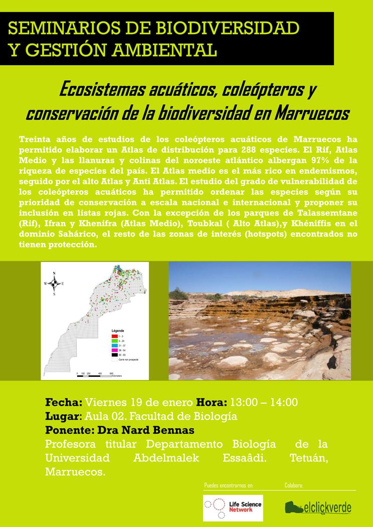 Charla sobre ecosistemas acuáticos de Marruecos, con la UMU