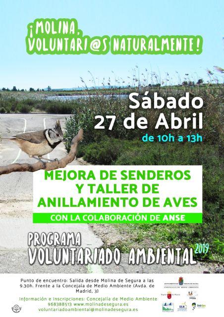 Mejora de senderos + anillamiento de aves con el Ayto. de Molina de Segura